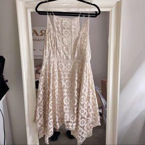 Cream Free People Lace Dress
